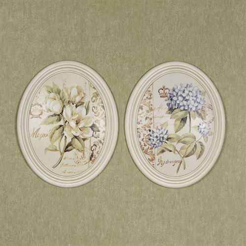 Serene Beauties I Wall Plaques Multi Pastel Set of Two