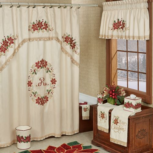 Poinsettia Palace Shower Curtain Champagne 72 x 72