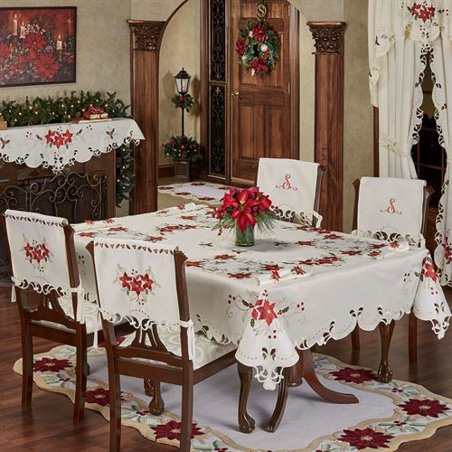 Poinsettia Palace Tablecloth Champagne