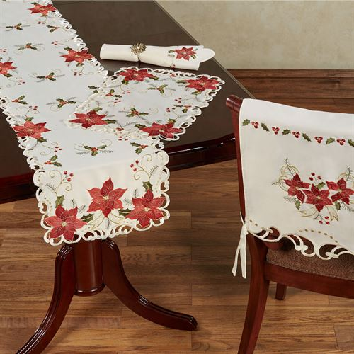 Poinsettia Palace Table Runner Champagne