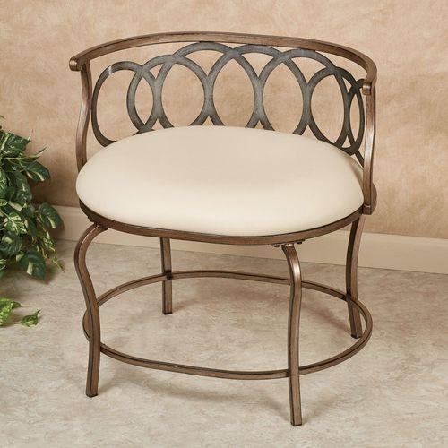 Vogue Vanity Chair Multi Metallic