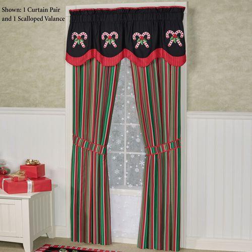 Peppermint Dreams Tailored Curtain Pair 84 x 84