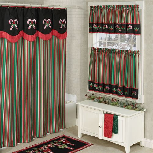 Peppermint Dreams Shower Curtain Red 72 x 72