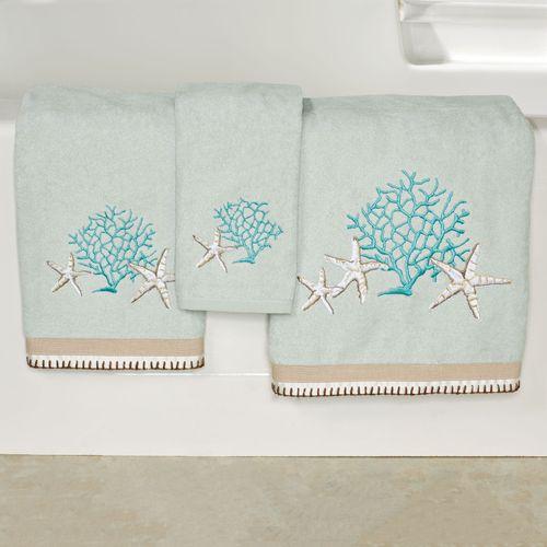 Beachcomber Bath Towel Set Celadon Bath Hand Fingertip