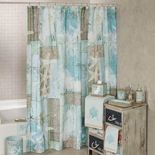 Beachcomber Shower Curtain Multi Cool 72 X