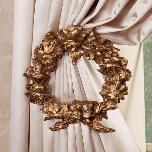 Floral Wreath Tieback Pair  Pair