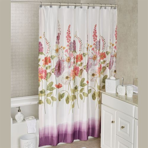 Keila Rose Floral Shower Curtain