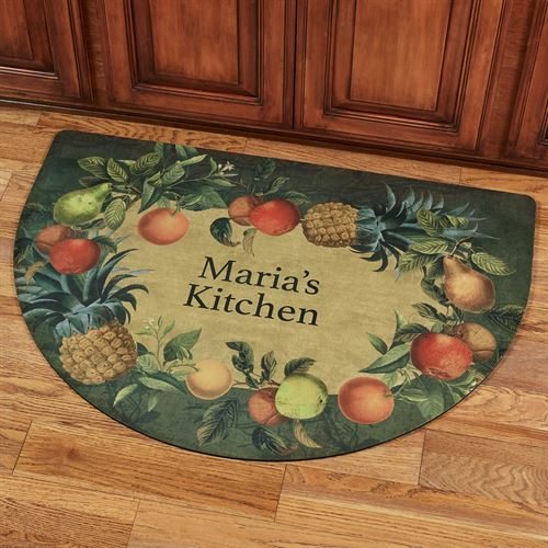 Fruit Border Personalized Slice Kitchen Mat Multi Jewel 40 x 24