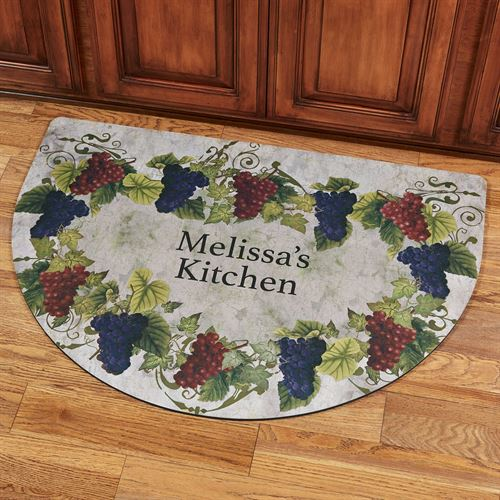 Grapevine Personalized Slice Kitchen Mat Purple 40 x 24