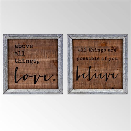 Inspirations Framed Wall Art Brown Set of Two