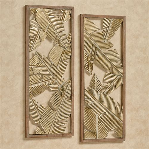 Palm Leaf Openwork Wall Art Set