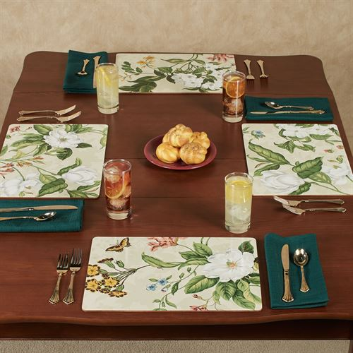 Garden Images Floral Hardboard Placemats Multi Cool Set of Four