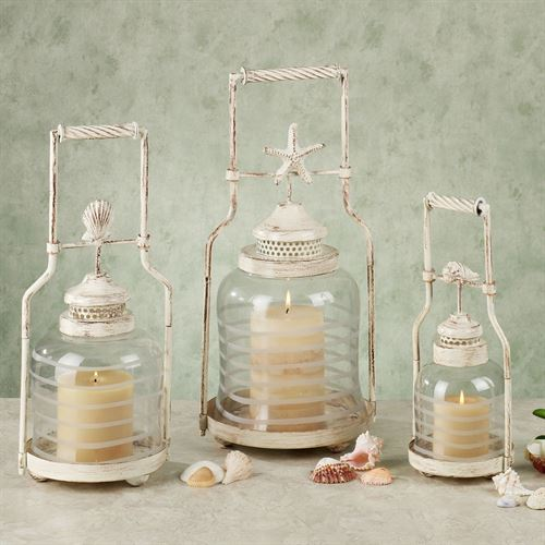 Shell Lantern Set  Set of Three