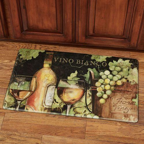 Bright Wine Cushioned Floor Mat Multi Cool 30 x 18