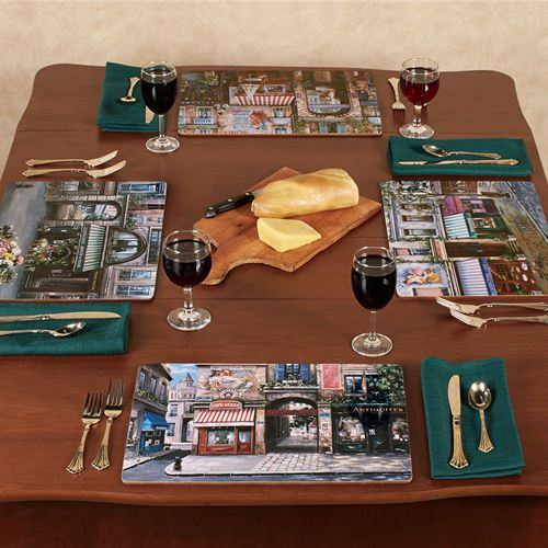 Village Square Hardboard Placemats Multi Cool Set of Four