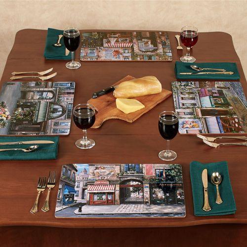 Village Square Hardboard Placemats Multi Cool Set of Four
