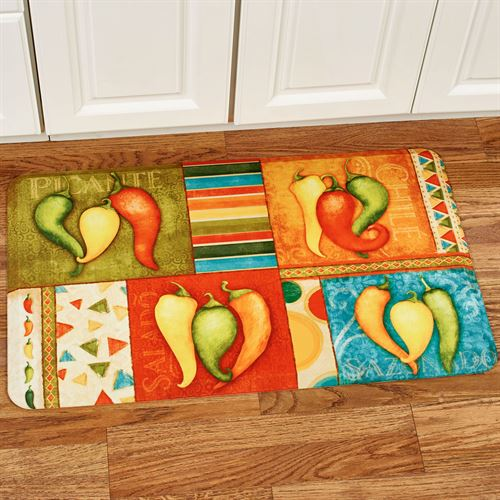 Chili Pepper Collection Kitchen Comfort Mat
