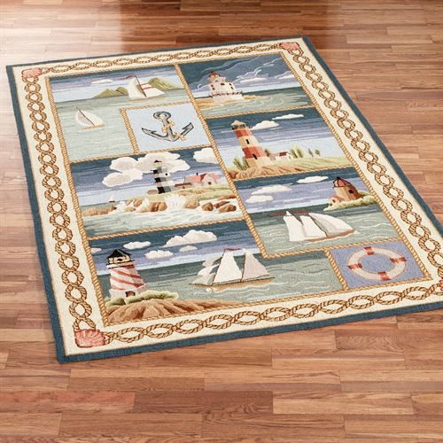 Coastal Views Area Rug Blue