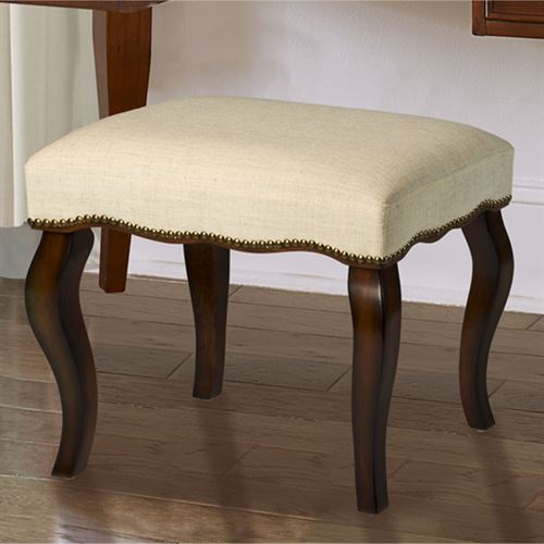 Fine Gillian Cushioned Dark Cherry Wooden Vanity Stool Cjindustries Chair Design For Home Cjindustriesco