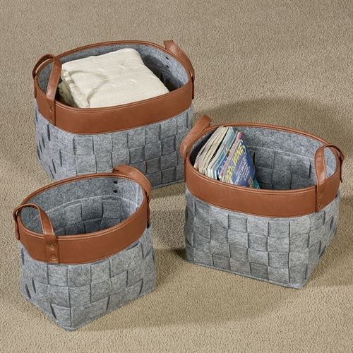Liam Storage Baskets Gray Set Of Three