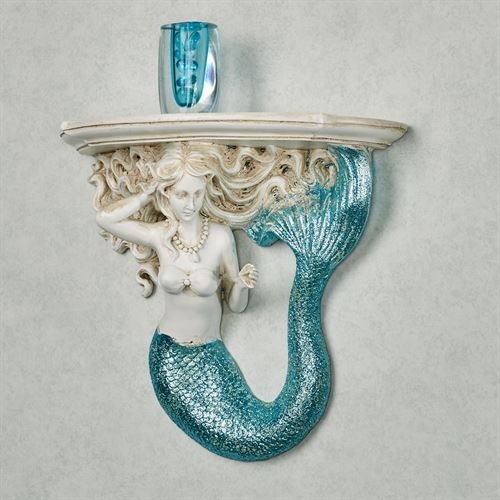 Adella Mermaid Wall Shelf White