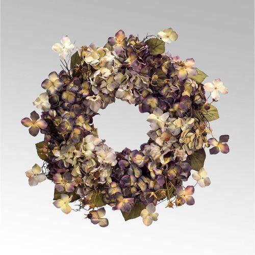 Hadley Hydrangea Floral Wreath Multi Cool