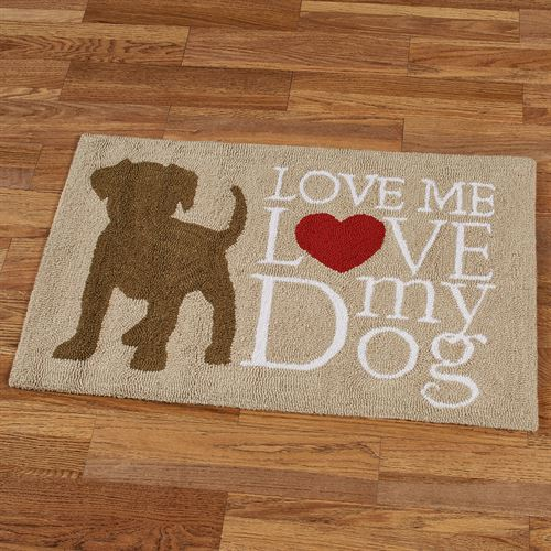 Dog Love Accent Rug Brown 34 x 22