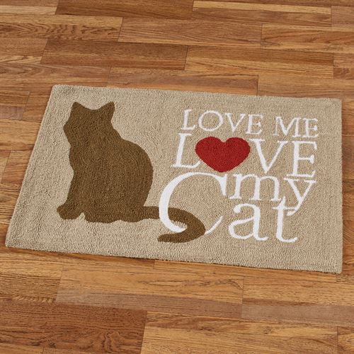 Cat Love Accent Rug Brown 34 x 22