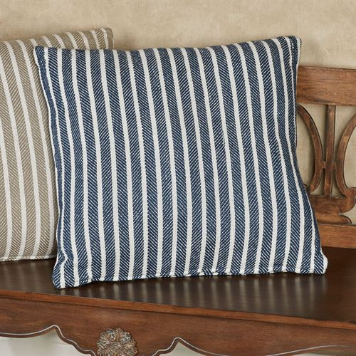 Bengal Stripe Decorative Pillow 20 Square