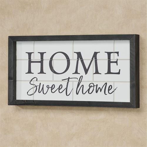 Home Sweet Home Framed Wall Art Weathered Black