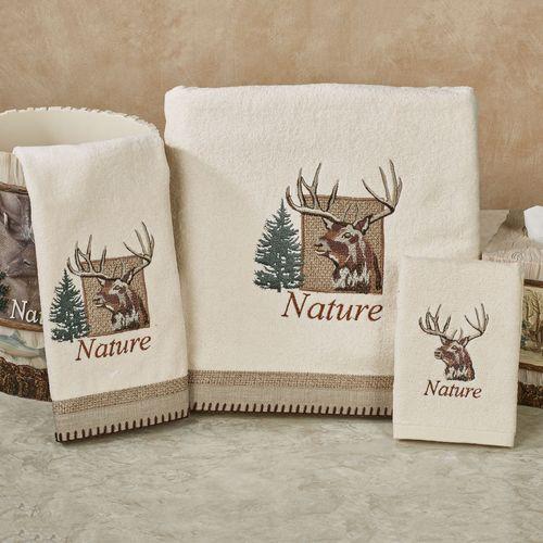 Nature Walk Bath Towel Set Multi Warm Bath Hand Fingertip