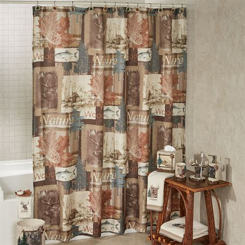 Nature Walk Shower Curtain Multi Warm 72 X