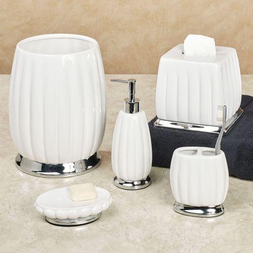 Sleek Lotion Soap Dispenser Off White