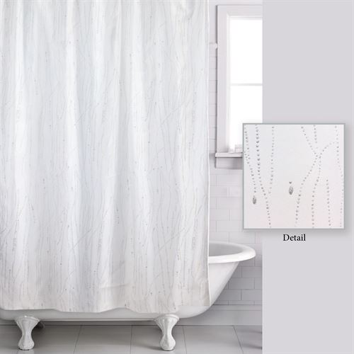 Drizzle Semi Sheer Shower Curtain White 70 X 72