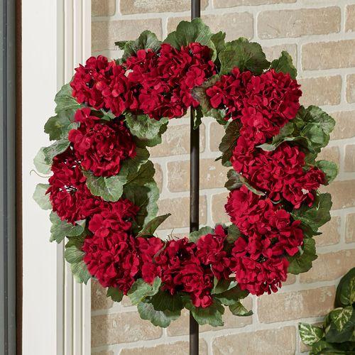 Geranium Floral Wreath Red
