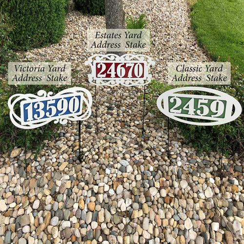 Fairway Estates Yard Address Stake
