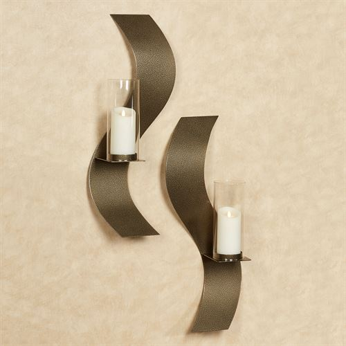 Rhythmic Wall Sconces Antique Gold Set of Two