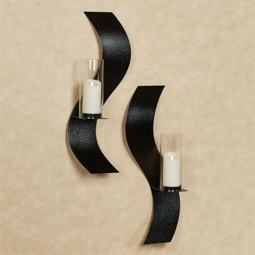 Rhythmic Wall Sconces Black Set of Two