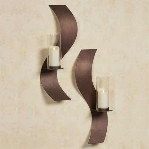 Rhythmic Wall Sconces Rich Bronze Set of Two
