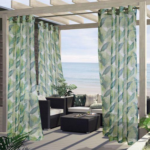 Havana Bay Sheer Grommet Curtain Panel