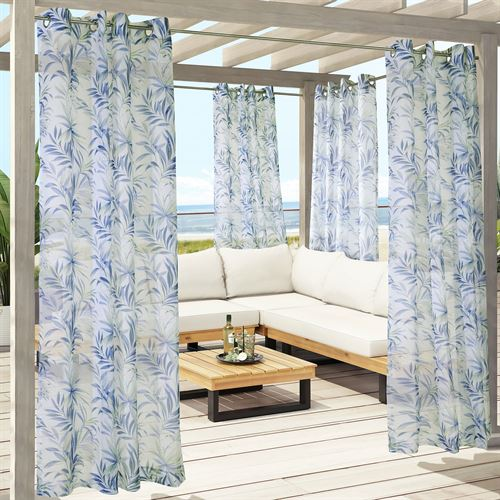 Barbuda Sheer Grommet Curtain Panel