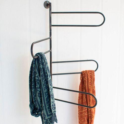 Rotating Wall Towel Rack Gun Metal
