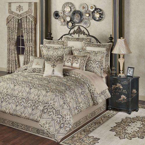 Landon Comforter Set Gold Beige