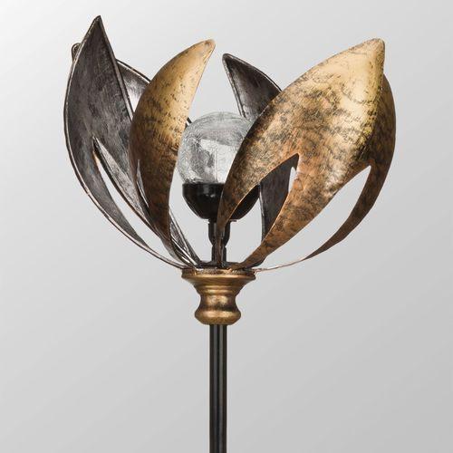 Lotus Solar Wind Spinner Antique Copper