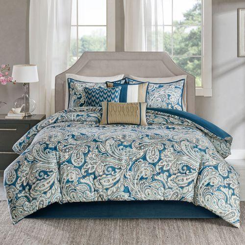 Selena Comforter Bed Set Blue