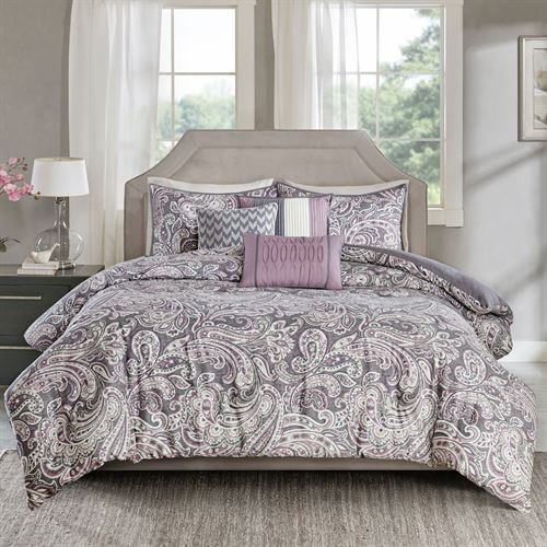 Selena Comforter Bed Set Purple