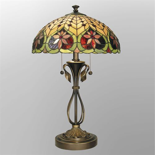 Vivienne Stained Glass Table Lamp Multi Jewel