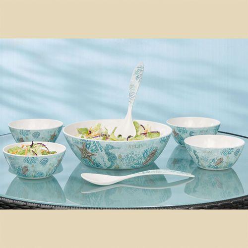 Beachcomber Salad Serving Set Multi Cool Set of Seven
