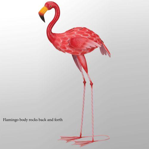 Flamingo Rocker Sculpture Pink