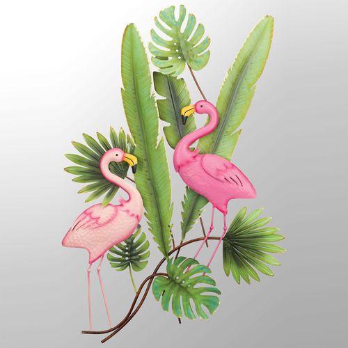 Flamingo Rainforest Wall Art Green